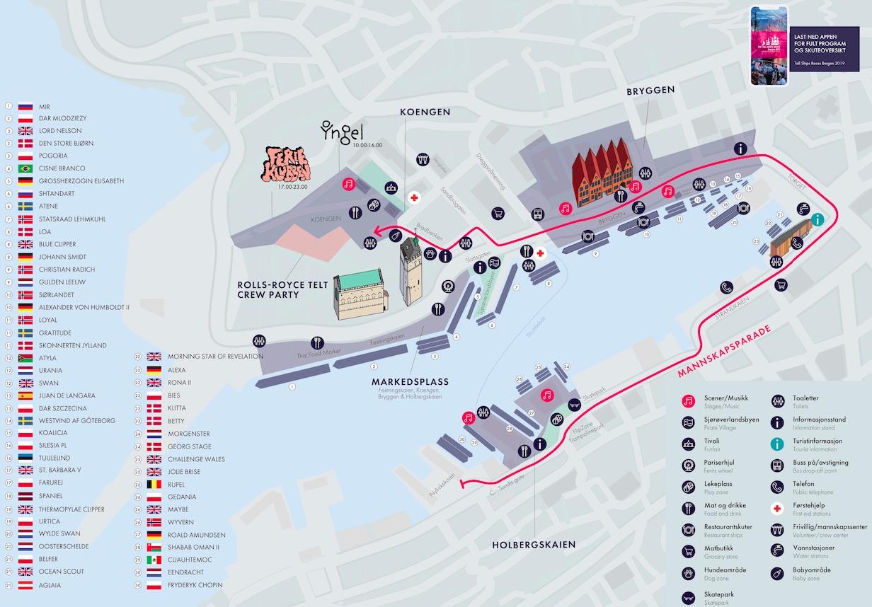 2ce960d7 Praktisk informasjon - The Tall Ships Races Bergen 2019